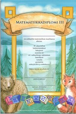 Matematiikkadiplomi 1.-6. luokkalaisille