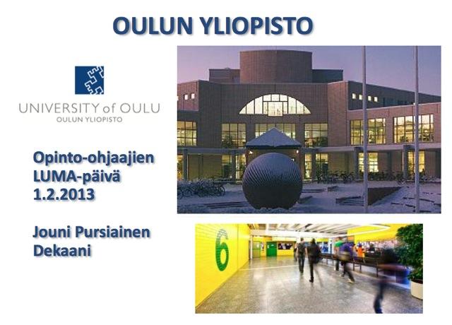 Oulun yliopiston esittely