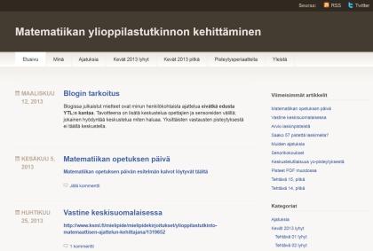 Blogi matematiikan ylioppilastutkinnon kehittämisestä