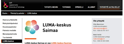 LUMA-keskus Saimaa