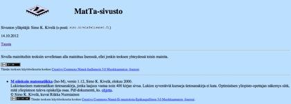 MatTa-sivusto
