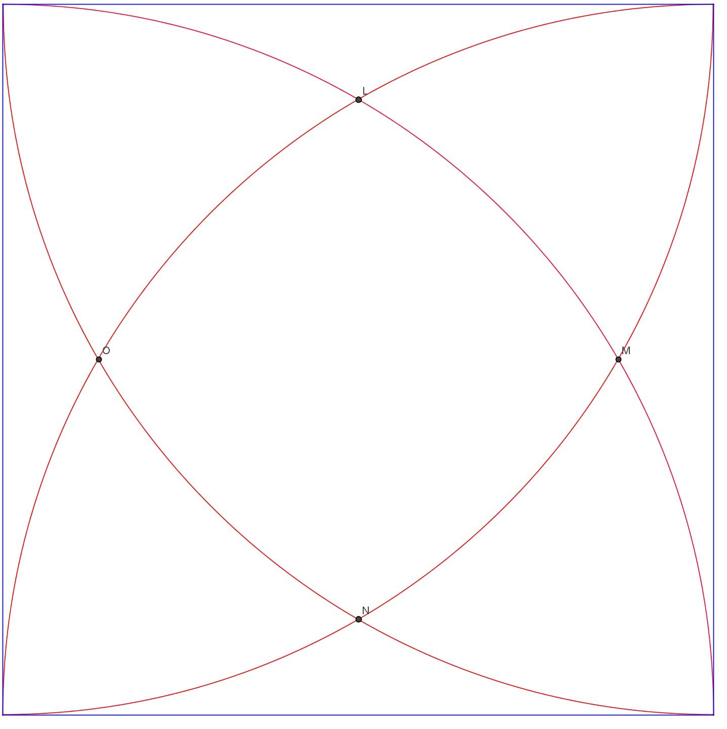 Pullistuneen neliön pinta-ala