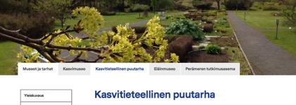 Oulun yliopiston kasvitieteellinen puutarha