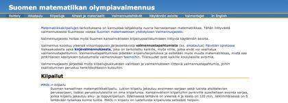 Suomen matematiikan olympiavalmennus